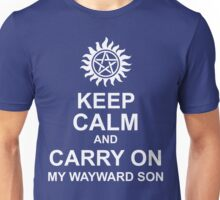 Keep Calm and Carry On My Wayward Son Shirt Unisex T-Shirt