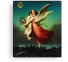Heiliger Schutzengel  Guardian Angel 10 pastel Canvas Print