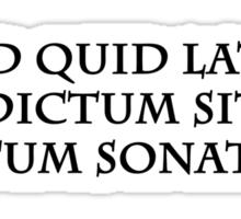 Latine (Black Print) Sticker
