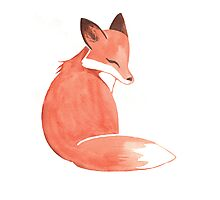 Watercolor Fox Photographic Print