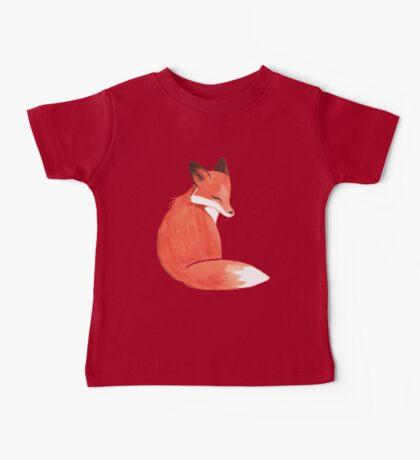 Watercolor Fox Baby Tee