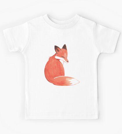 Watercolor Fox Kids Tee