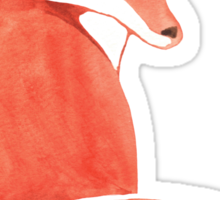 Watercolor Fox Sticker