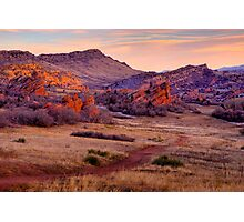 Red Dirt Trail Photographic Print