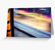 Train From Window - 11 03 13 Greeting Card