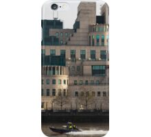 SIS Secret Service Building London And Rib Boat iPhone Case/Skin