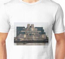 SIS Secret Service Building London And Rib Boat Unisex T-Shirt
