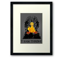 T is for Throne Framed Print