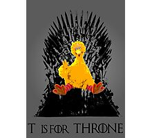 T is for Throne Photographic Print