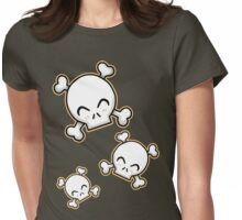 Cute Skulls Womens Fitted T-Shirt