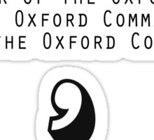 Oxford Comma Sticker