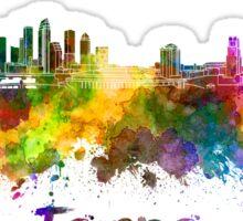 Tampa skyline in watercolor Sticker