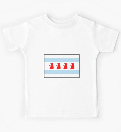 Chi-Ca-Go-Nate! Dalek Chicago Flag Kids Tee
