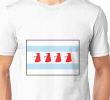 Chi-Ca-Go-Nate! Dalek Chicago Flag Unisex T-Shirt