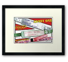 Indiana Pouch 1 Framed Print