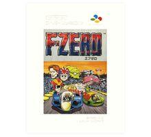 F-Zero Nintendo Famicom Box Art (NES) Art Print