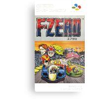 F-Zero Nintendo Famicom Box Art (NES) Metal Print
