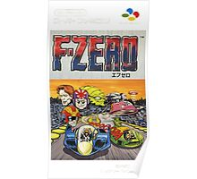 F-Zero Nintendo Famicom Box Art (NES) Poster