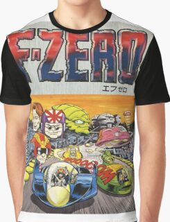 F-Zero Nintendo Famicom Box Art (NES) Graphic T-Shirt