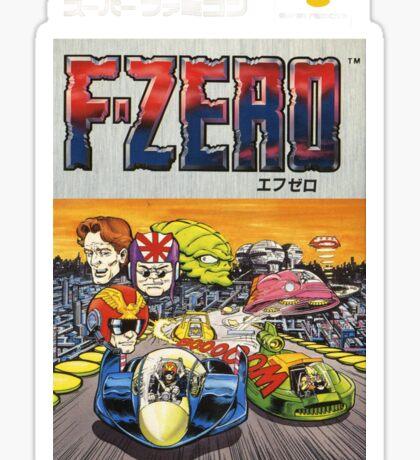 F-Zero Nintendo Famicom Box Art (NES) Sticker