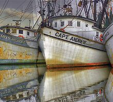 Shrimp Boats - Georgetown, South Carolina by Edith Reynolds