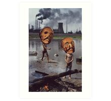 M Blackwell - Work Hazards Art Print