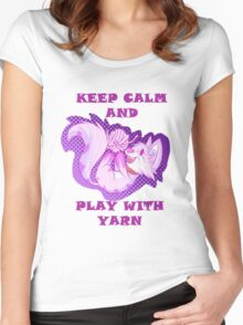KEEP CALM, PLAY WITH YARN Women's Fitted Scoop T-Shirt