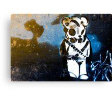 Enhanced Graffiti Bear Canvas Print