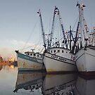 Shrimp Boats 2 - Georgetown, South Carolina, USA by Edith Reynolds