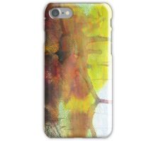 Abstract Ink Landscape with Water, Mountains, Fall Trees iPhone Case/Skin