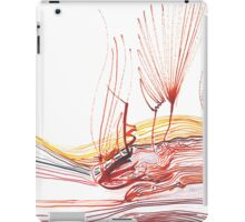 Flowing Abstract Red Lines (Acrylic Ink) iPad Case/Skin