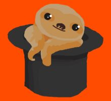 Baby Sloth in a Top Hat Kids Tee