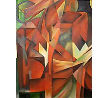 """Foxes"" -  Homage to Franz Marc (1913)     Photographic Print"