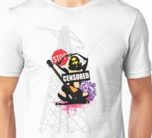 Censored Sexy Lady with mixed Street Art Unisex T-Shirt