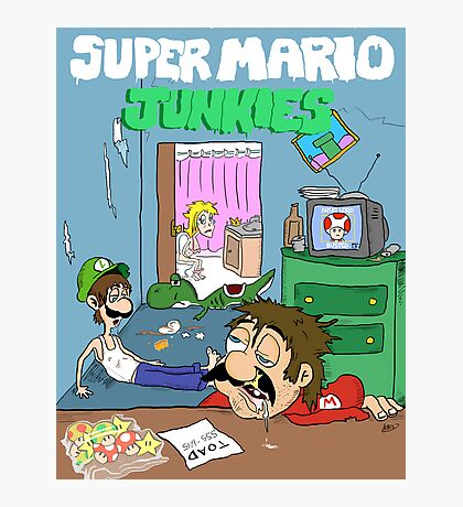 Super Mario Junkies Photographic Print