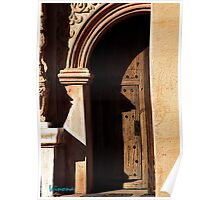 Entrance to San Xavier Del Bac Mission Poster