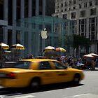 New York City - Apple cab by Geoffrey Fighiera