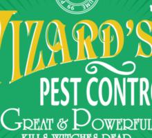 Wizards Pest Control Sticker