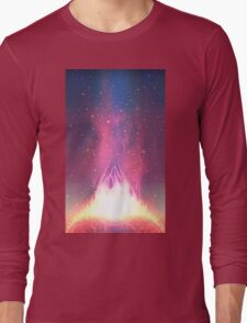 Space background Long Sleeve T-Shirt
