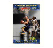 Jordan Dasuqi | 2012-13 | Clarkston Basketball Poster Art Print