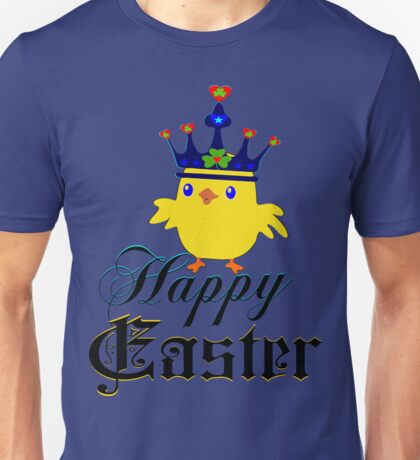 ㋡♥♫Happy Easter Blue Eyed Irish King Chicken Clothing & Stickers♪♥㋡ Unisex T-Shirt