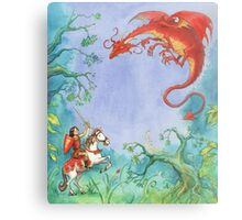 Knights and Dragons Metal Print