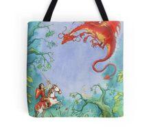 Knights and Dragons Tote Bag