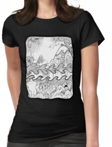 Doodle Collage Shirt Womens Fitted T-Shirt