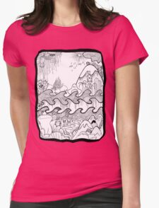 Doodle Collage Shirt Womens T-Shirt