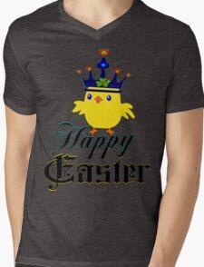 ㋡♥♫Happy Easter Blue Eyed Irish King Chicken Clothing & Stickers♪♥㋡ Mens V-Neck T-Shirt