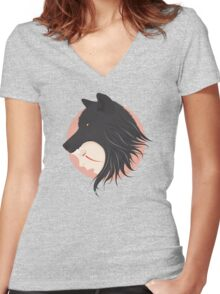Boy Cries Wolf Women's Fitted V-Neck T-Shirt
