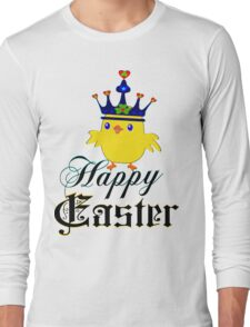 ㋡♥♫Happy Easter Blue Eyed Irish King Chicken Clothing & Stickers♪♥㋡ Long Sleeve T-Shirt