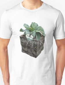 Large white on a cabbage ground cube T-Shirt