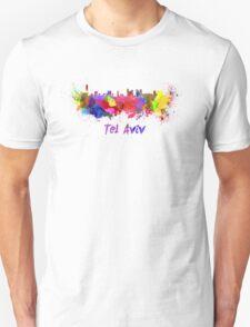 Tel Aviv skyline in watercolor Unisex T-Shirt